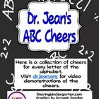 This was made with permission and help from Dr Jean.This unit contains-26 Large ABC Cheer cards-1 Chart for large or small printing-26 small c...
