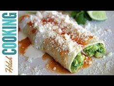 Enchiladas Bandera! Vegetarian Enchiladas - Hilah Cooking