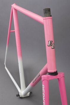 Image of Ed Litton Track Racing Frame set Pink