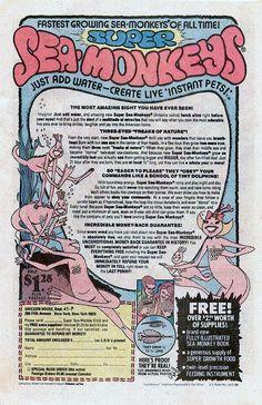 I Ordered Me Some Nuthin Vintage Comic Books Vintage Ads Sea Monkeys