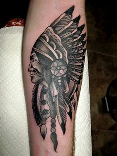 "I've always wanted to know what a person with a ""Indian Chief"" tattoo would do if he ran into an actual chieftain."