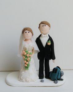Für Euren gemeinsamen Lebensweg wünsche ich Euch alle Liebe und alles Glück dieser Welt ღ   #Tortenfigur #Hochzeit #Hochzeitstortenfigur #Brautpaar #Hochzeitstorte #Sportbrautpaar #Familienbrautpaar #Bergsteigerbrautpaar