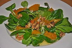 Feldsalat mit Orangenschnitzeln und Walnüssen (Rezept mit Bild) | Chefkoch.de