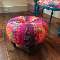 Furniture Considerate Indian Floor Pouf Ottoman Cover Pouffe Pouffes Foot Stool Moroccan Pillow Art Ottomans, Footstools & Poufs