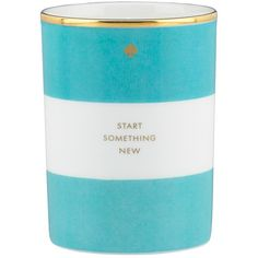 "Kate Spade Scented Candle ""Start Something New"" (130 PEN) ❤ liked on Polyvore featuring home, home decor, candles & candleholders, candles, decor, kate spade, accessories, fragrance candles, kate spade home decor and scented candles"