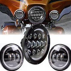 """113.05$  Watch now - http://aliiqe.worldwells.pw/go.php?t=32692232426 - """"Angle Eye Set 7"""""""" Daymarker Headlight H4 Hi/Low Beam with 30w Motorcycle 4.5"""""""" - 4 1/2""""""""Auxiliary LED Fog Lights Bulb For Harley"""""""