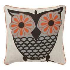 I pinned this Owl Pillow from the Room Service event at Joss and Main! Cute Owl, Joss And Main, Bird Feathers, Decorative Pillows, Throw Pillows, Owl Pillows, Burlap Pillows, Projects To Try, Sweet Home
