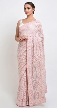 Dusty Rose Chikankari And Kamdani Net Sare Men's Fashion, India Fashion, Fashion Week, Fashion Dresses, Fashion Designer, Indian Designer Wear, Indian Attire, Indian Ethnic Wear, Indian Dresses