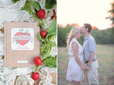 Engagement Photos In the Vegetable Garden