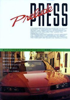 Honda Prelude Mk4 Japan Press Brochure 1992