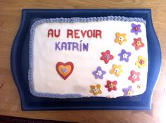 A goodbye cake for a friend