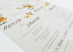 Convite casamento floral - Galeria de Convites