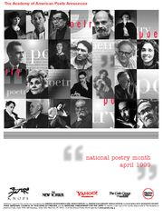 Each year we commission a poster for National Poetry Month for distribution to Academy members and member organizations. The 1999 National Poetry Month Poster, featuring several iconic poets in litera Student Life Yearbook, National Poetry Month, American Poets, 20th Anniversary, Drawing People, Gallery, Poster, Organizations, Joyful