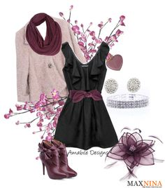 """""""Plum in the Winter"""" by amabiledesigns on Polyvore"""