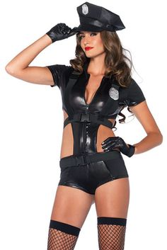 Holiday Fashion 3pcs Sexy Police Women Costume LC8895 Top Girls Carnival Cosplay Costumes V Neck Halloween Female Police Uniform