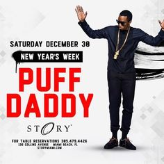 Saturday! Story Nightclub @storymiami on Miami/South Beach is the only place to party. Great music (Hip Hop/Top 40) vibe and crowd with @Diddy ---------------------------------------------------- Table Reservations 1-786-288-9504 (what's app ok) ----------------------------------------------------#la #vegas #oklahoma #mia #weekend #bachelorette #sanfrancisco #nyc #cleveland #indiana #virginia #ohio #california #northcarolina #rhodeisland #sweden #denver #congo #music #newjersey #paris…