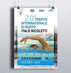 """Locandina per il """"Trofeo internazionale Italo Nicoletti""""  #polisportivariccione #alpianodisottographic #Ilovemyjob"""
