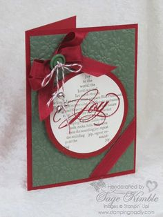 Handmade Christmas Card: Joy to the World! » Stamping Madly