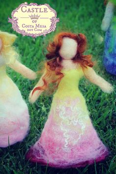Violet the Flower Fairy. Waldorf Spring Season Nature Table Top puppet Dolls. Castle of Costa Mesa