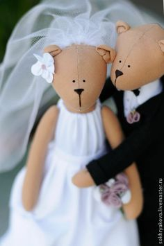 Куклы Тильды ручной работы. Ярмарка Мастеров - ручная работа Свадебные мишки. Handmade.