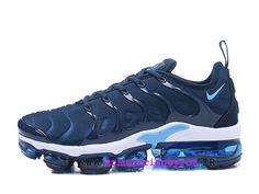 Chaussures de Basketball Nike Prix Pour Homme Nike Air VaporMax Plus Bleu /  blanc AO4550-