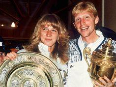 steffi graf & boris becker win wimbledon, 1989