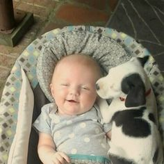 This Baby And Pit Bull Puppy Are Best Friends ~ Adorable