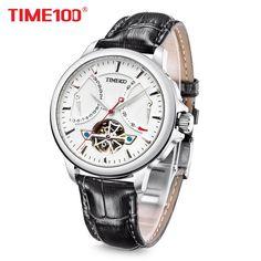 58016b6c3b6 2016 Time100 Homens Relógios de Tourbillon Automático Relógios Mecânicos  Relógios Militares da Marinha de Esqueleto Relógios