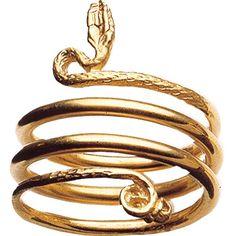 British Museum Snake Ring Triple Coil - £50.00