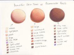 My Prismacolor Skin Tone Color Palette by ArtisticAdventures.deviantart.com on @deviantART