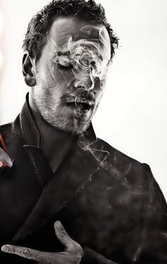 Michael Fassbender. Not that I approve of smoking, but photographically speaking this is a cool shot.