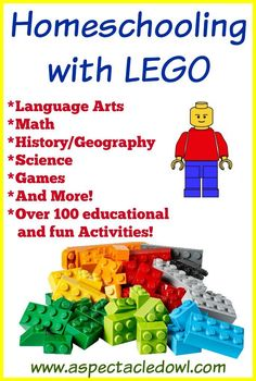 Homeschooling with LEGO Resources & Activities A Spectacled Owl is part of Homeschool - When I first started looking around for Homeschooling with LEGO curriculum and ideas, I didn't know how many things I would find Boy was I surprised! Teaching Kids, Kids Learning, Teaching Geography, Learning Styles, Lego Math, Maths, Lego Activities, Science Games, Science Crafts