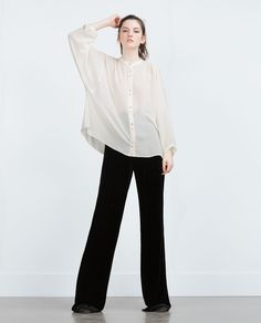 ZARA - SALE - OVERSIZE SHIRT WITH BUTTONS