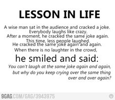 Great stuff:) Lesson in Life