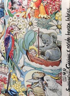 Australian Christmas /Snugglepot and Cuddlepie/ Koalas/ Australian Gifts/ Zipper /Bath and Beauty/Pouches and Coins/ Kangaroos/ May Gibbs Australian Gifts, Australian Authors, Australian Christmas, Australian Art, Xmas Gif, Edith Holden, Baby Friends, Christmas Aesthetic, Painting Patterns