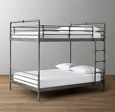 Industrial Steel Pipe Full-Over-Full Bunk Bed