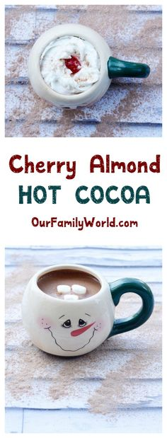 Baby, it's cold outside! Warm up with our cherry almond hot chocolate non-alcoholic drink recipe! Check it out!