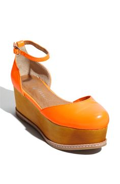 Jeffrey Campbell 'Suebee' Sandal in Orange Neon