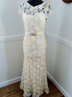 1930's Lace Dress w/Jacket - Front