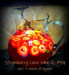 Strawberry Lime Wine-a-rita... pretty and yummy cocktail!!