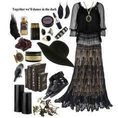"""Black Magick Woman"" by morbid-octobur on Polyvore Sometimes i wanna be the spooky witch lady who lives in the woods, alright?"