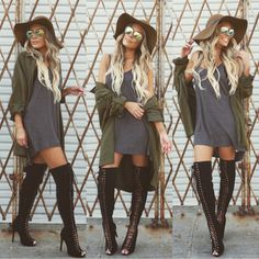 How to wear high knee lace boots