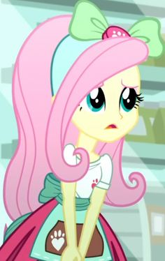 """There's not enough love for Fluttershy's work uniform. My Little Pony Characters, My Little Pony Comic, My Little Pony Pictures, Girl Pictures, Cartoon Network Adventure Time, Adventure Time Anime, Fluttershy, Goth Disney Princesses, My Little Pony Wallpaper"