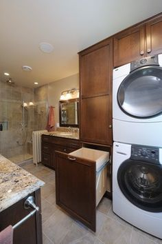 Laundry Bathroom Combo Design Ideas, Pictures, Remodel And Decor
