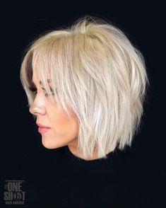 Bright Blonde Hair, White Blonde Hair, Black Hair, Blonde Hair Looks, Black Bob, Long Black, Short Choppy Haircuts, Haircuts For Fine Hair, Choppy Hairstyles