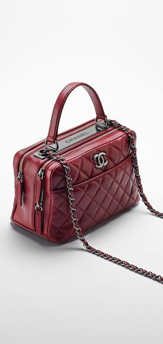 Lambskin bowling bag embellished... - CHANEL