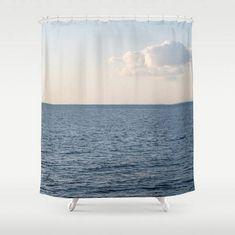 Cloud Contemplation ~ Blue Shower Curtain ~ White Cloud Shower Curtain ~ White and Blue Beach Bathroom Decor ~ Blue Bath Set ~ Beach Shower Curtain ~ Beach Bath Mat by #NancyJsLifestyle