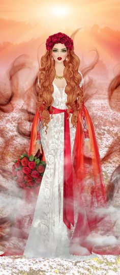 Red Hair Woman, Covet Fashion, Doodles, Barbie, Glamour, Magic, Fantasy, Stickers, Female