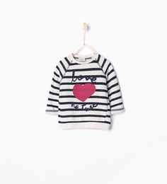 Heart print sweatshirt-Shop by Look-Baby girl | 3 months-4 years-KIDS | ZARA Belgium