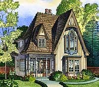 plan 43000pf adorable cottage tudor housevictorian cottagefrench country
